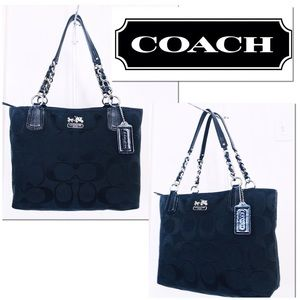 Coach Chelsea Signature Jacquard & Leather Tote